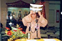 Master Sheng Yen in early stage of DDM's construction