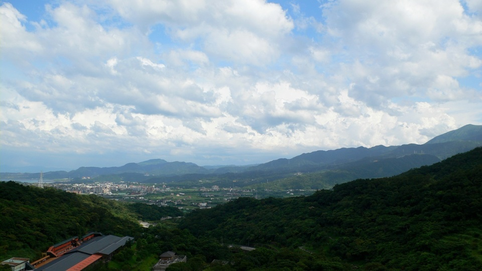 View of the Jinshan Valley from the monastery