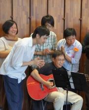 Singing on Graduation day