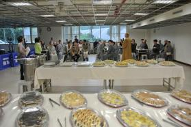 A feast prepared for the end of school year reunion