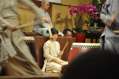 Drumming club performance