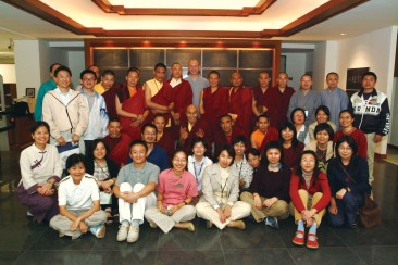 Participants to the Tibetan and Chinese Buddhism exchange program