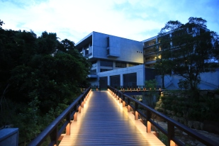 Bridge to the Fitness center and dormitory